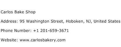 Carlos Bake Shop Address Contact Number