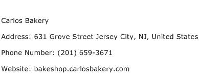 Carlos Bakery Address Contact Number