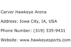 Carver Hawkeye Arena Address Contact Number