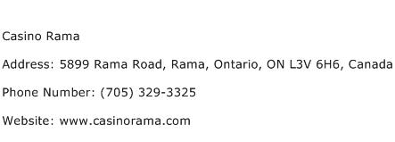 Address For Casino Rama