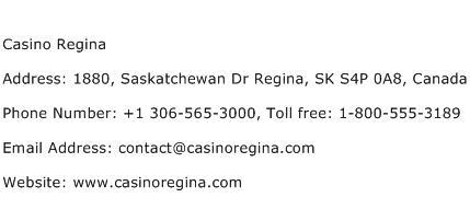 Casino Regina Phone Number