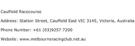Caulfield Racecourse Address Contact Number