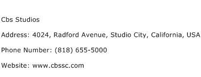 Cbs Studios Address Contact Number