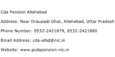 Cda Pension Allahabad Address Contact Number
