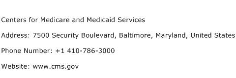 Centers for Medicare and Medicaid Services Address Contact Number