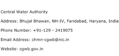 Central Water Authority Address Contact Number
