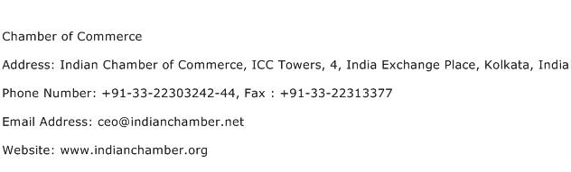 Chamber of Commerce Address Contact Number