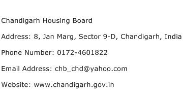 Chandigarh Housing Board Address Contact Number