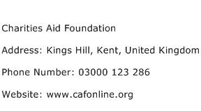 Charities Aid Foundation Address Contact Number