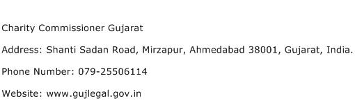 Charity Commissioner Gujarat Address Contact Number