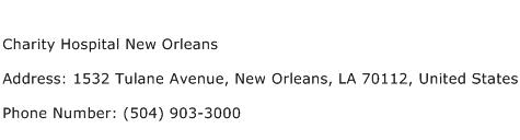 Charity Hospital New Orleans Address Contact Number
