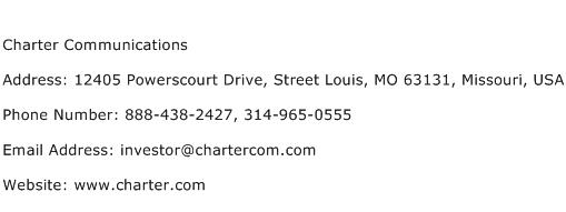 Charter Communications Address Contact Number