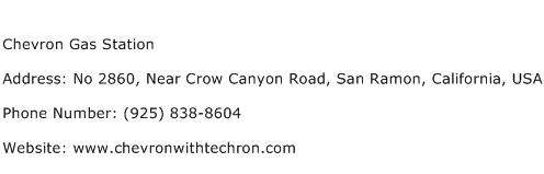 Chevron Gas Station Address Contact Number