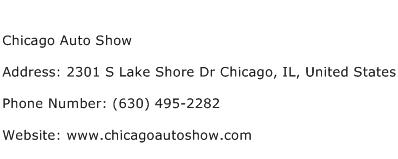 Chicago Auto Show Address Contact Number