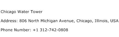 Chicago Water Tower Address Contact Number