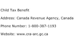 Child Tax Benefit Address Contact Number