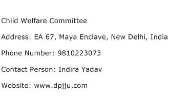 Child Welfare Committee Address Contact Number