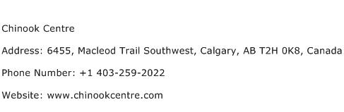 Chinook Centre Address Contact Number
