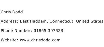 Chris Dodd Address Contact Number