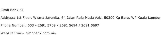 Cimb Bank Kl Address Contact Number