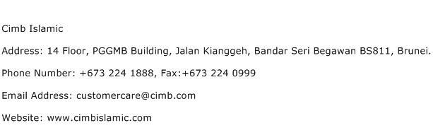 Cimb Islamic Address Contact Number