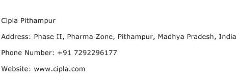 Cipla Pithampur Address Contact Number