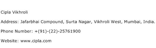 Cipla Vikhroli Address Contact Number