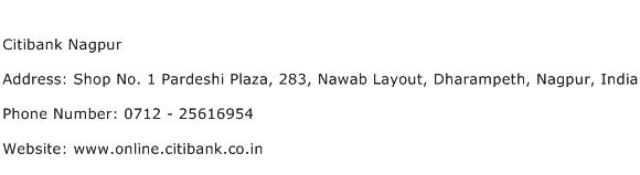 Citibank Nagpur Address Contact Number