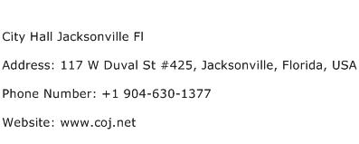 City Hall Jacksonville Fl Address Contact Number