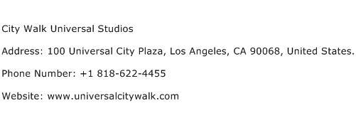 City Walk Universal Studios Address Contact Number