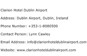 Clarion Hotel Dublin Airport Address Contact Number