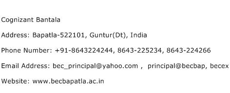 Cognizant Bantala Address Contact Number