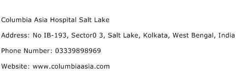 Columbia Asia Hospital Salt Lake Address Contact Number