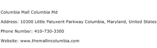 Columbia Mall Columbia Md Address Contact Number
