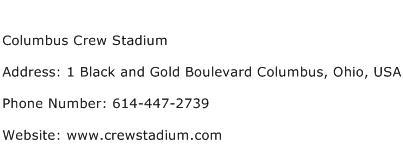 Columbus Crew Stadium Address Contact Number
