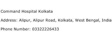 Command Hospital Kolkata Address Contact Number