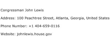 Congressman John Lewis Address Contact Number