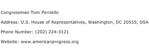 Congressman Tom Perriello Address Contact Number