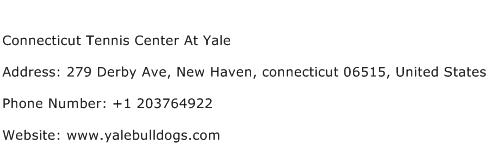 Connecticut Tennis Center At Yale Address Contact Number