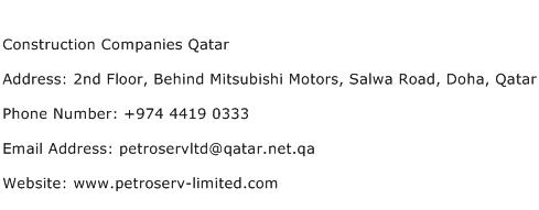 Construction Companies Qatar Address, Contact Number of