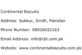 Continental Biscuits Address Contact Number