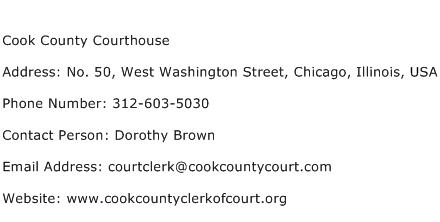 Cook County Courthouse Address Contact Number