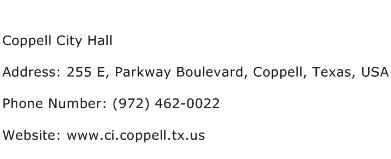 Coppell City Hall Address Contact Number