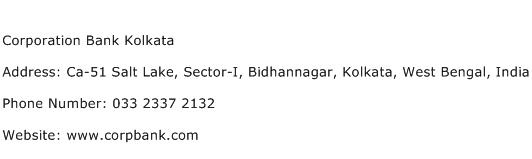 Corporation Bank Kolkata Address Contact Number