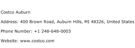 Costco Auburn Address Contact Number