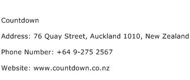 Countdown Address Contact Number