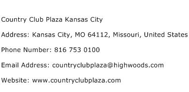 Country Club Plaza Kansas City Address Contact Number