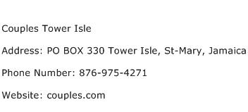 Couples Tower Isle Address Contact Number