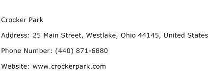 Crocker Park Address Contact Number