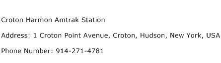 Croton Harmon Amtrak Station Address Contact Number